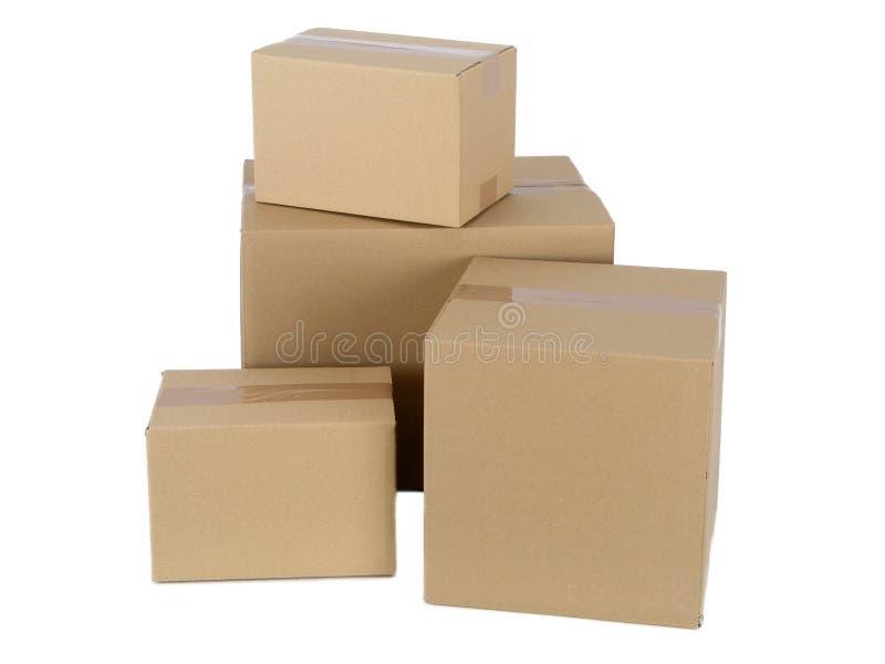纸板程序包 免版税库存照片