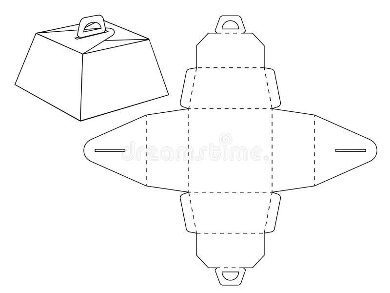 纸板箱bonbonniere 风俗塑造了装饰小包设计没有胶浆衣物柜 库存例证