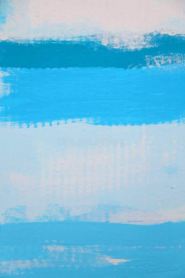纸板纹理,绘在白色蓝色和蓝色 皇族释放例证