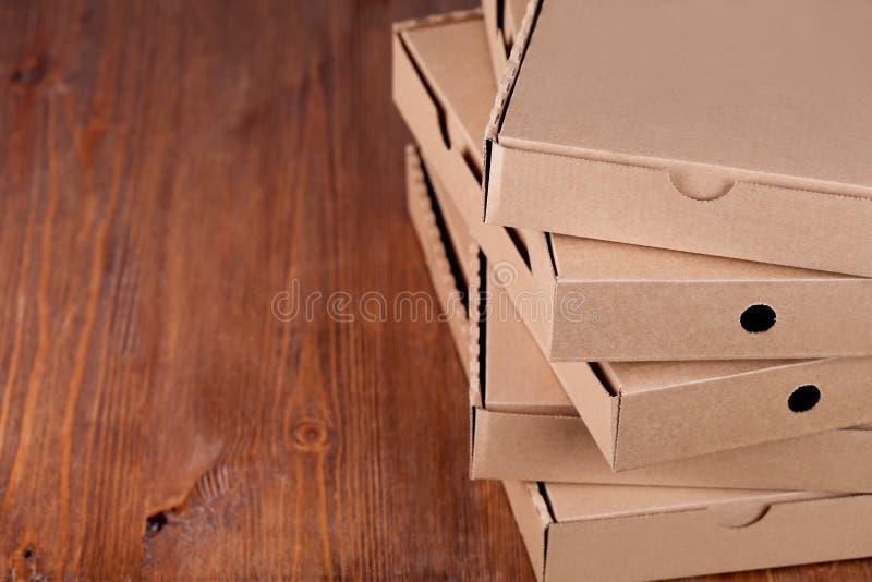 纸板薄饼箱子 免版税库存照片