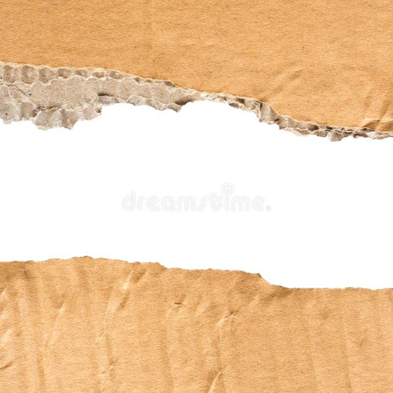 纸板被撕毁的纸 免版税图库摄影
