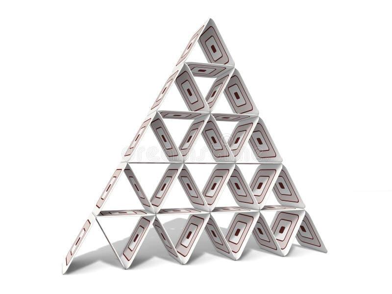 纸板金字塔 库存图片