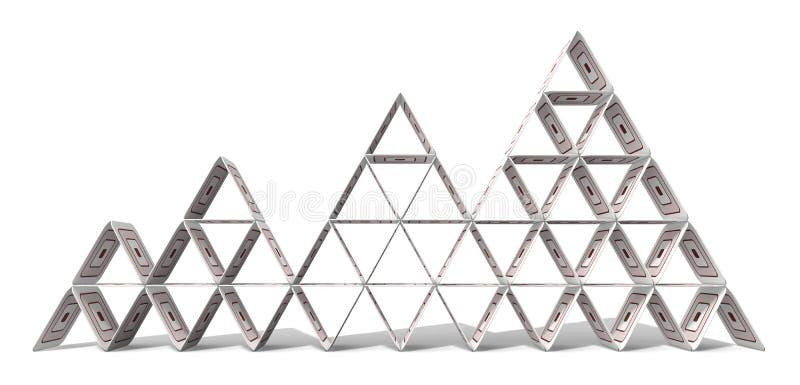 纸板金字塔 免版税图库摄影