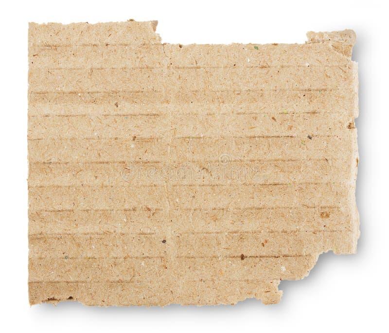 纸板镶边被撕毁的片断  免版税图库摄影