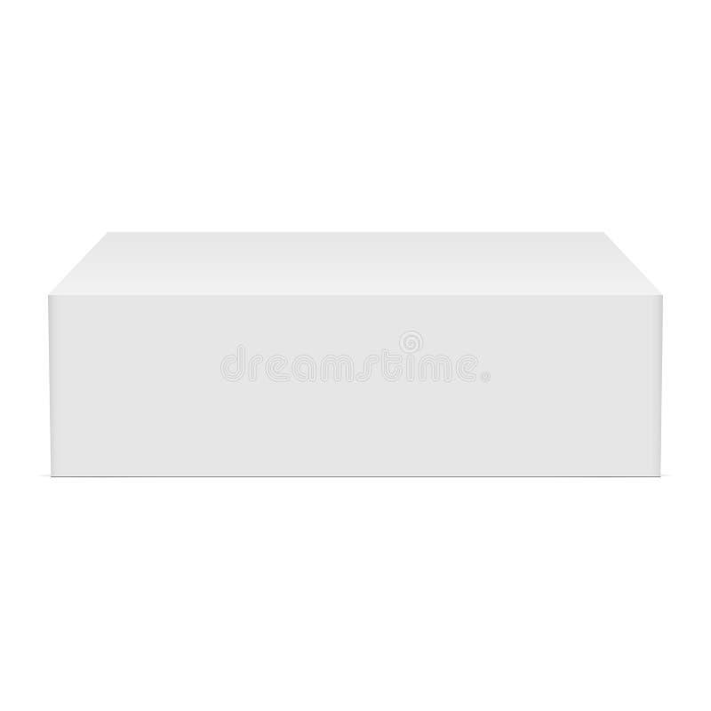 纸板长方形箱子大模型 库存例证