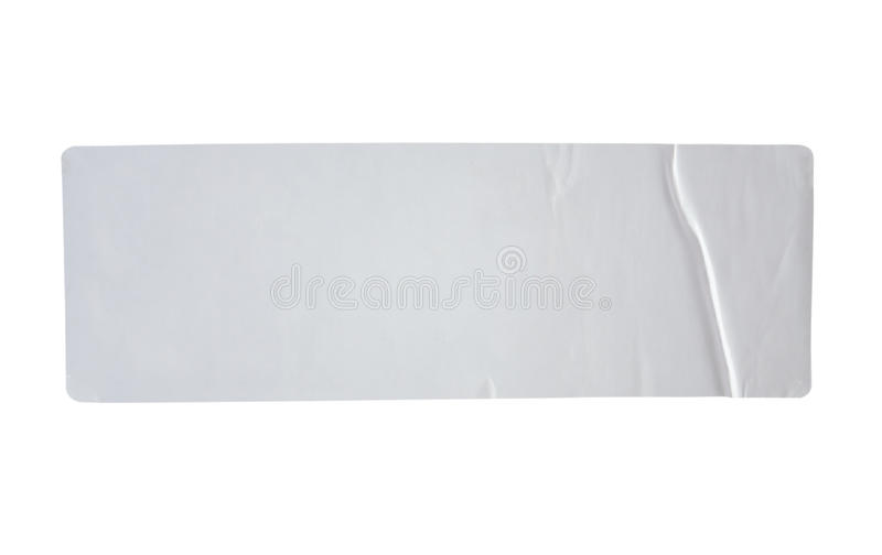 贴纸标记与在白色隔绝的裁减路线 库存照片