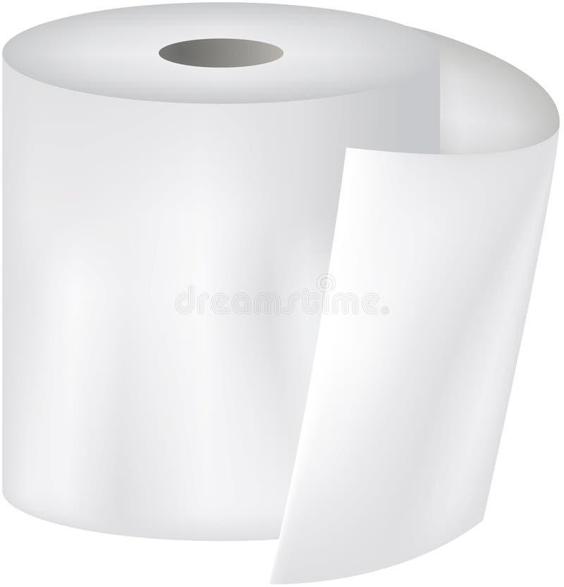 纸洗手间 皇族释放例证