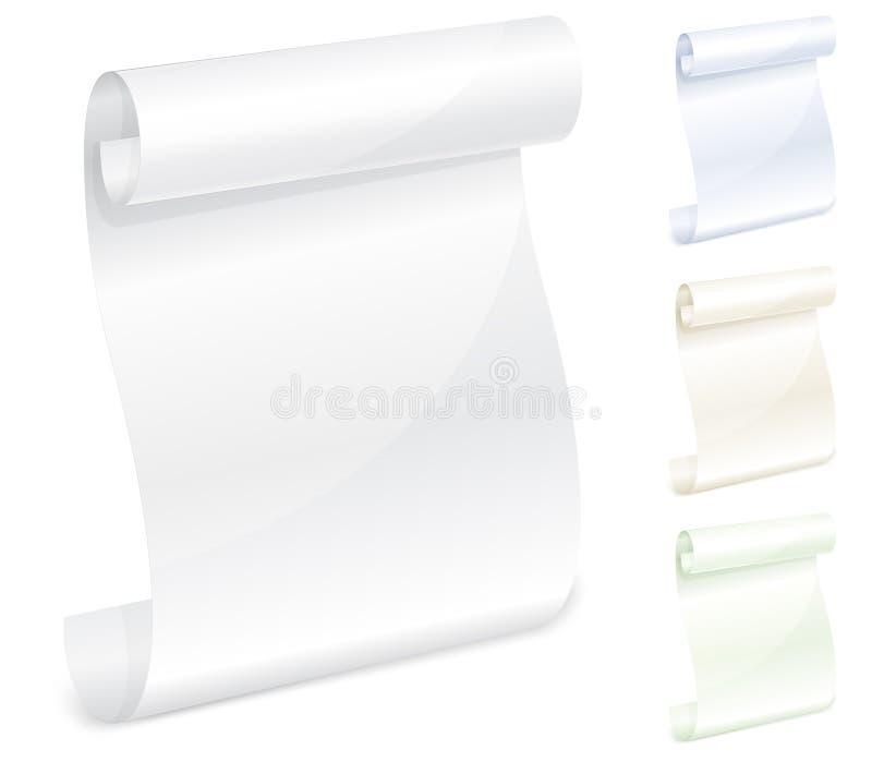 纸滚动白色 向量例证