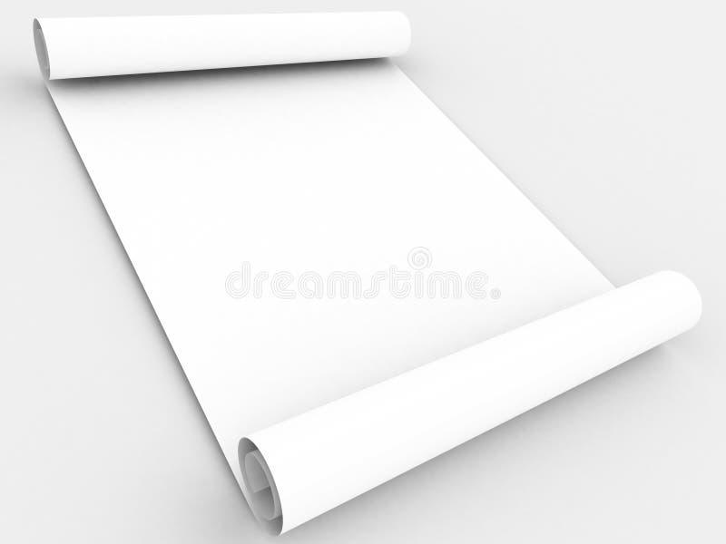 纸滚动白色 皇族释放例证