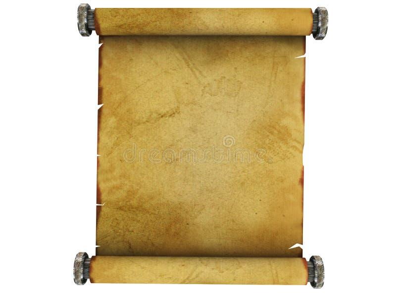 纸滚动 皇族释放例证