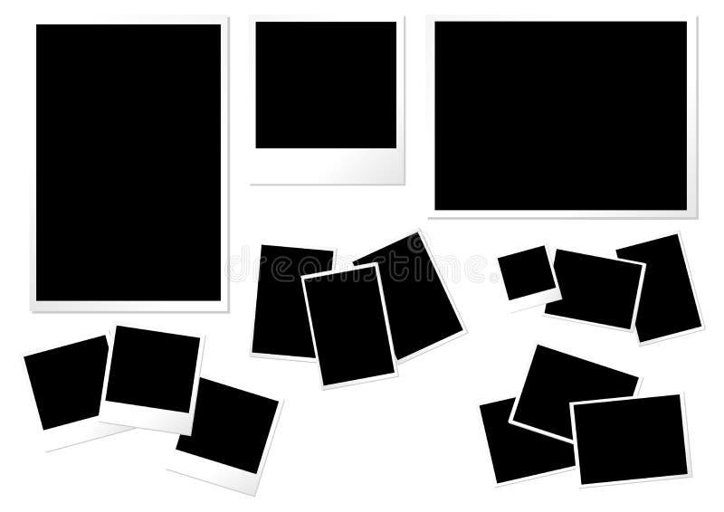 纸照片模板 向量例证