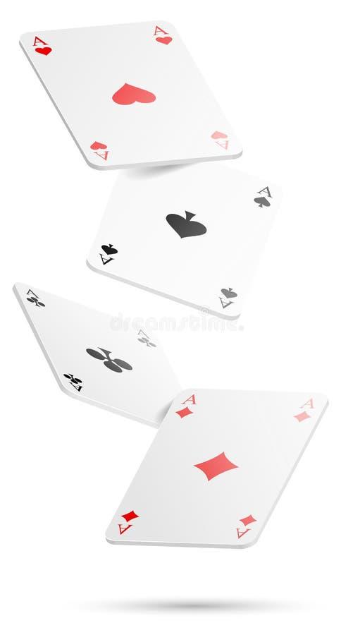 纸牌四被隔绝的一点传染媒介 向量例证