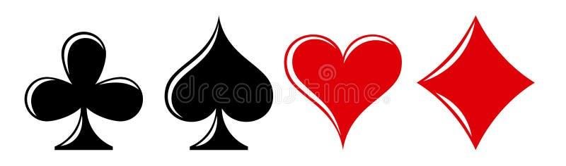纸牌游戏符号 库存例证