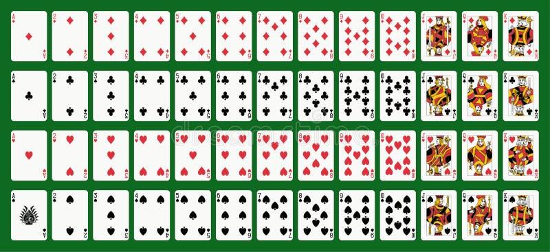 纸牌游戏 皇族释放例证