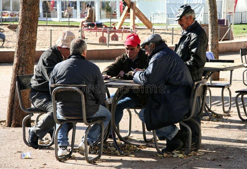 纸牌运动员在里斯本 免版税库存照片