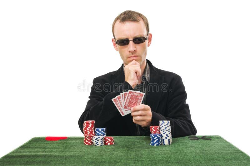 纸牌运动员 库存照片