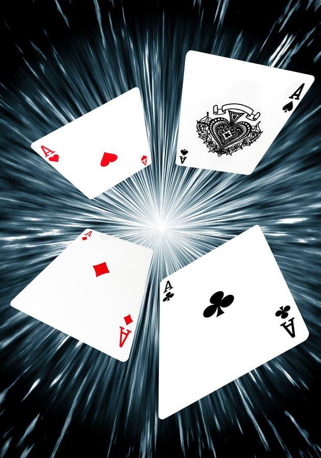 纸牌-王牌飞行员背景 向量例证