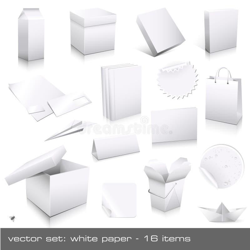 纸白色 向量例证
