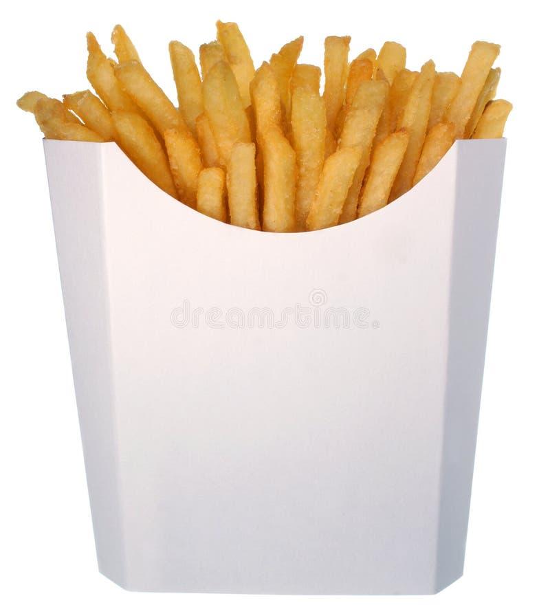 纸盒快餐炸薯条 免版税库存照片