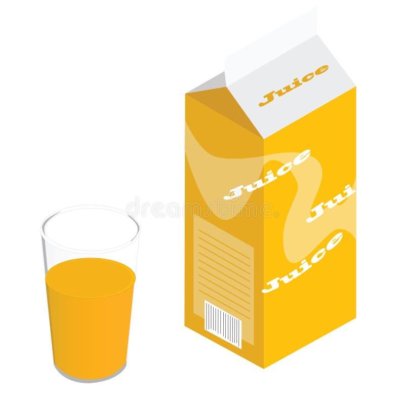 纸盒汁液 库存例证