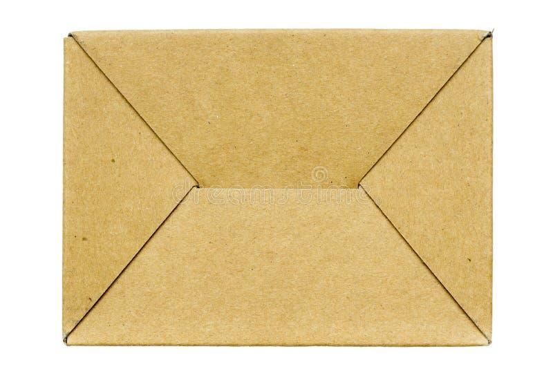 纸盒箱子底部 库存照片