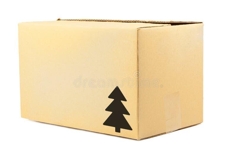 纸盒箱子 免版税库存图片