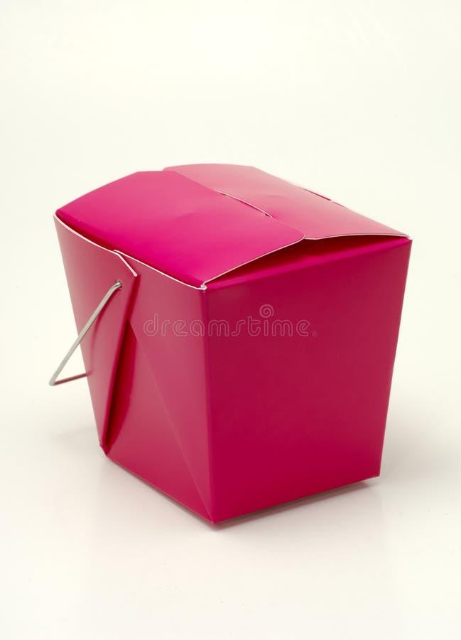 纸盒紫红色 免版税库存图片