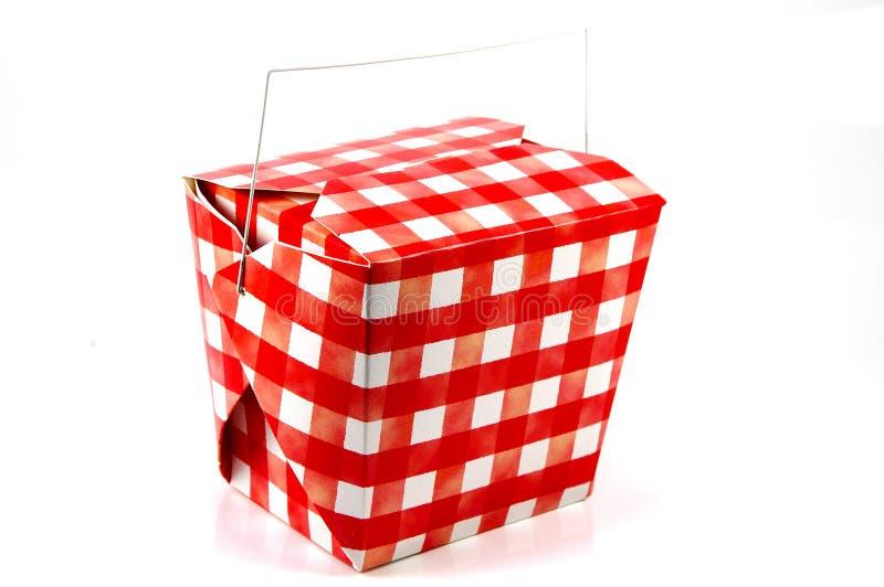纸盒红色白色 图库摄影