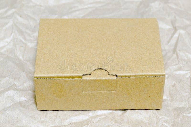 纸盒配件箱 免版税库存照片