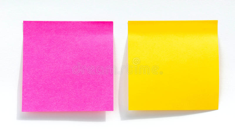 纸笔记,注意 在提示A少校抢救 免版税库存照片