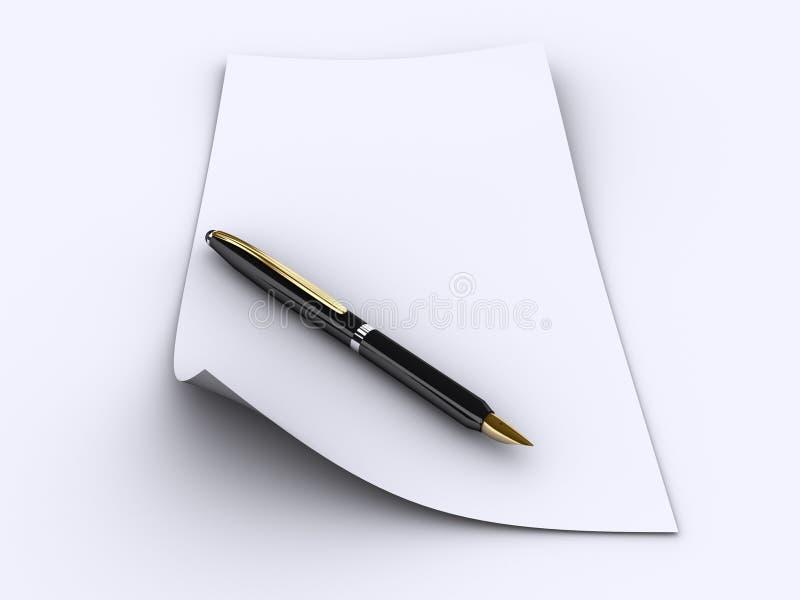 纸笔 免版税库存照片