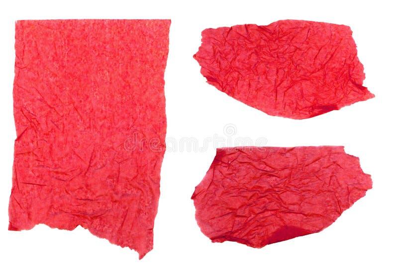 纸红色被剥去的组织 免版税图库摄影