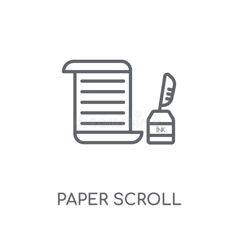 纸纸卷线性象 现代概述纸纸卷商标conce 皇族释放例证