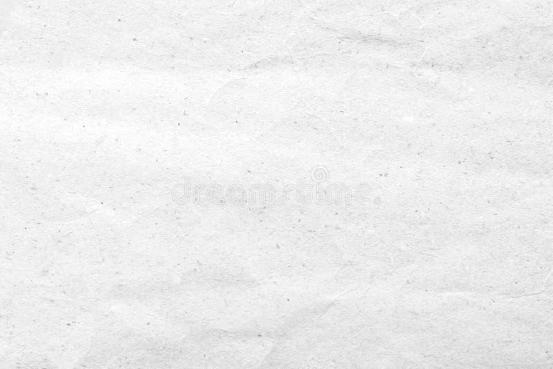 纸纹理 背景被弄皱的纸白色 免版税库存照片