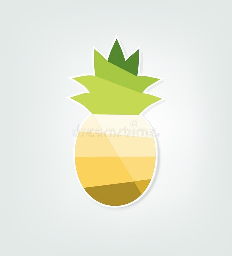 纸菠萝 库存例证