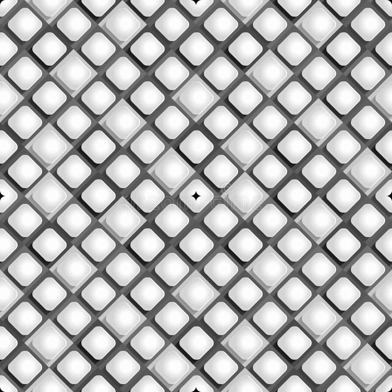 从纸菱形的无缝的样式在黑白背景 皇族释放例证