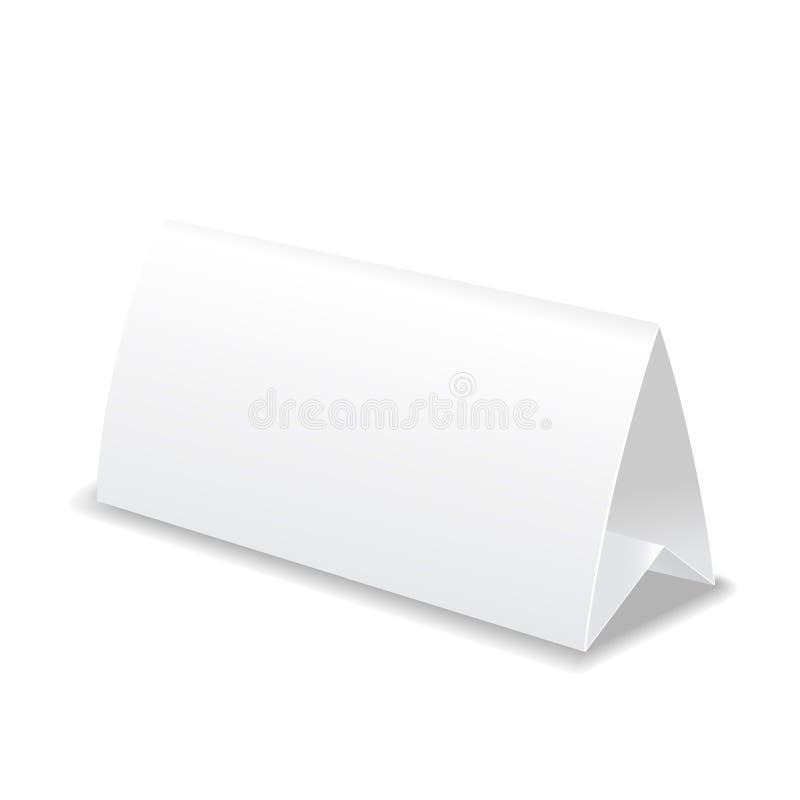 纸表卡片,模板传染媒介例证 库存例证