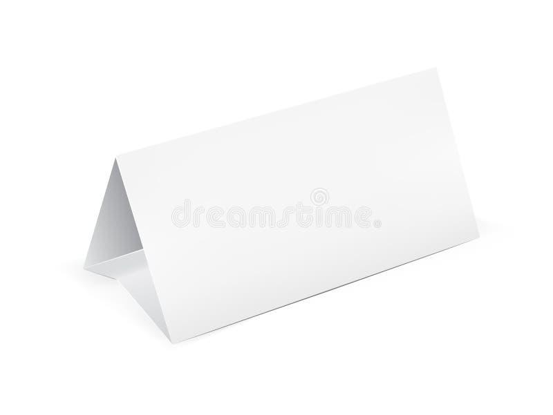 纸表卡片 皇族释放例证