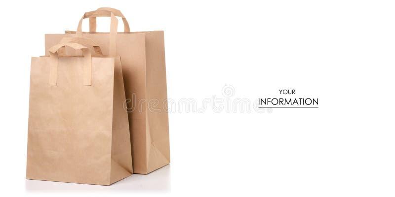 纸袋包裹样式 图库摄影