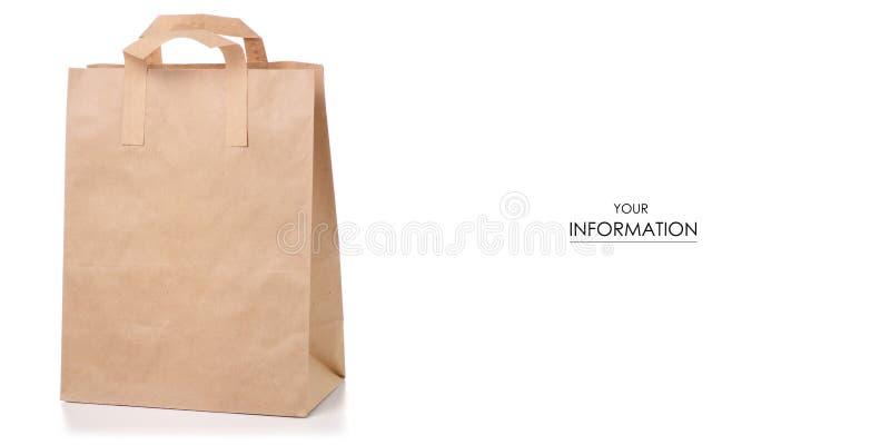 纸袋包裹样式 免版税库存图片