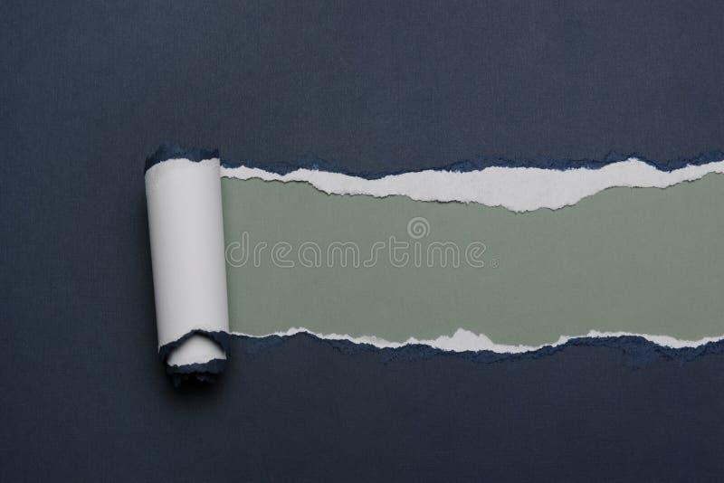 纸裂口 免版税库存照片