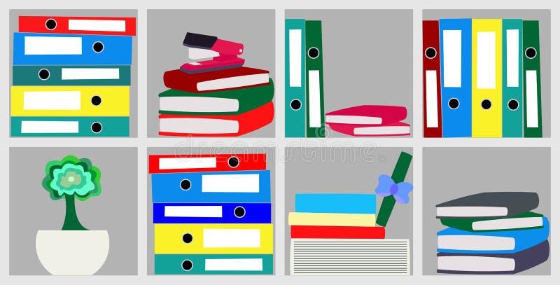 纸设备文件夹的文件夹例证的 库存图片