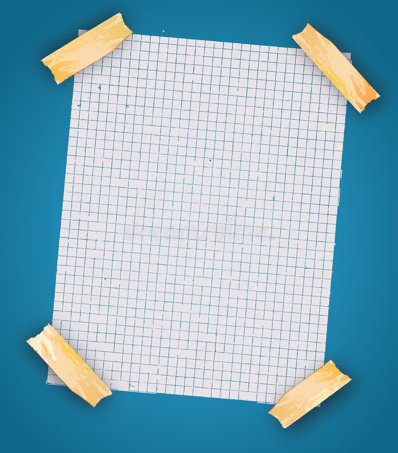 纸部分可实现的空间文本 库存例证