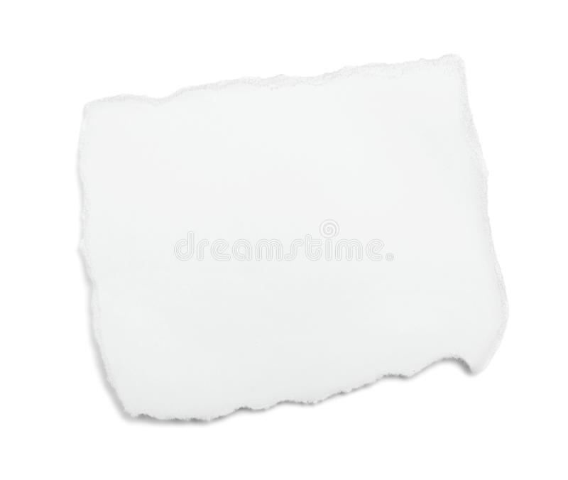 纸部分白色 免版税图库摄影