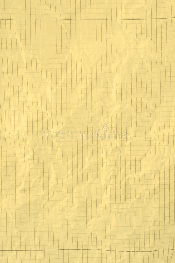 纸部分黄色 免版税库存照片