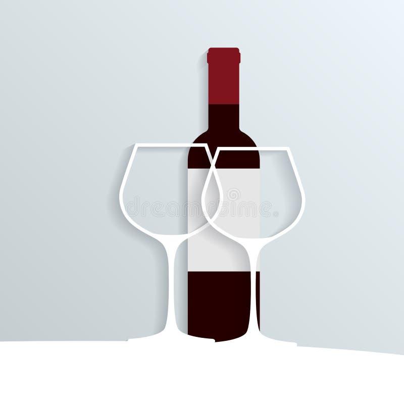 纸酒 皇族释放例证