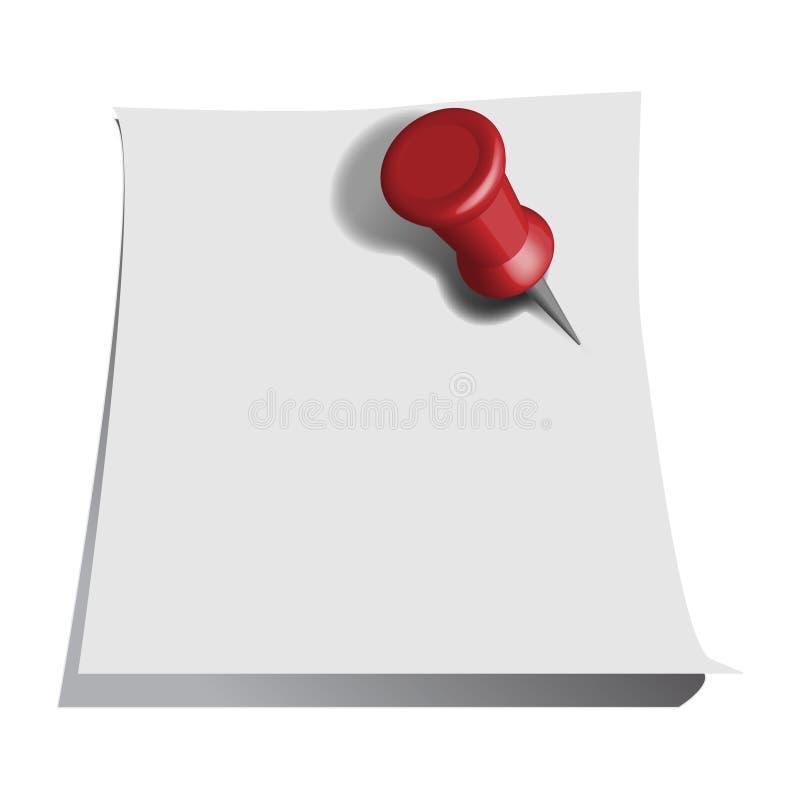 Download 纸针 向量例证. 插画 包括有 查出, 编辑可能, 空白的, 通信, 办公室, 便条, 组织, 背包, 切记 - 10228922