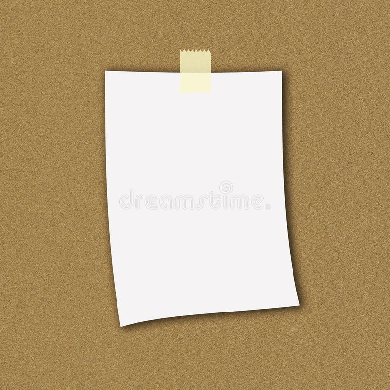 纸附注 免版税库存照片