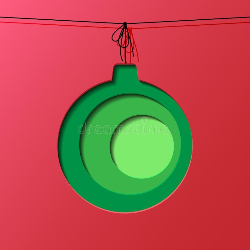 纸雕刻圣诞节球 免版税库存图片