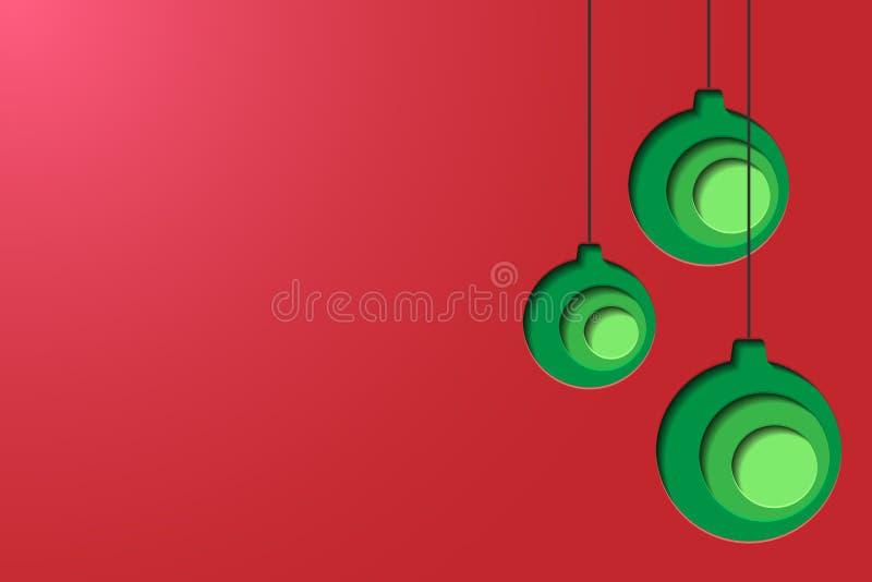 纸雕刻圣诞节球 库存图片